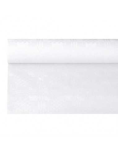 Rollo mantel papel color blanco gofrado damasco 6 x 1,2m