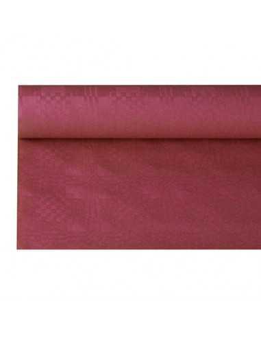 Rollo mantel papel color burdeos gofrado damasco 6 x 1,2m