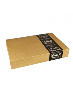 10 Cajas Transporte Catering Cartón Pure Good Food 24,7 x 35,7 x 8 cm