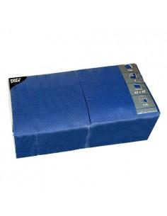 Servilletas de papel hostelería color azul oscuro 40 x 40 cm