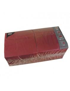 Servilletas de papel hostelería color burdeos 40 x 40 cm