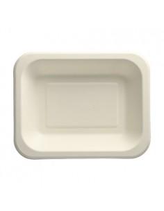 100 Bandeja Termosellable Caña de Azúcar Blanco 18,5 x 23,5 cm Pure
