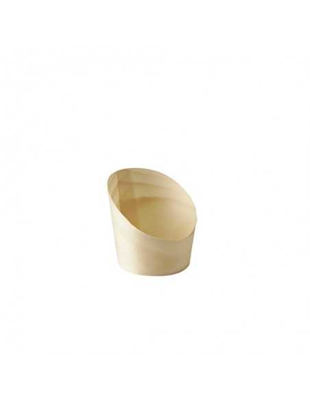 Vasitos aperitivo de madera redondos Pure Ø 5,5 cm