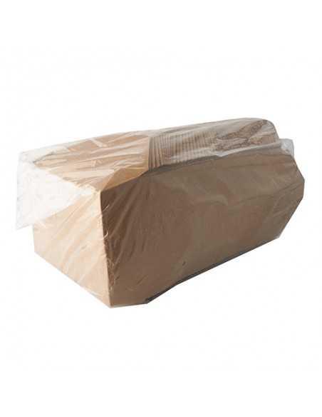 Cajas Comida Para Llevar Cartón Fibra Fresca Marrón Pure 1500ml