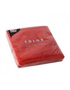 20 Servilletas Papel Tisú Color Rojo 3 Capas 33 x 33 cm
