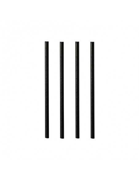 Cañitas negras de papel cortas para mojito Ø 7mm x 15cm
