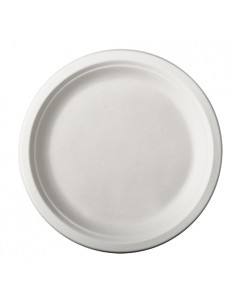 Assiettes en Canne à Sucre Blanc Ronds Ø 23 cm Pure