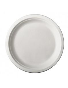 Platos redondos caña azúcar blancos Ø 23cm Pure