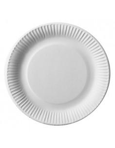 Assiettes Rondes en Carton Blanc Ø 23 cm Pure