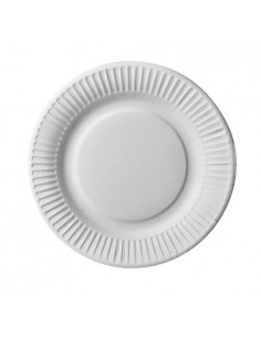 Assiettes Rondes en Carton Blanc Ø 19 cm Pure