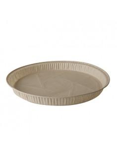 Moldes para hornear compostables marrón redondos 835ml Pure