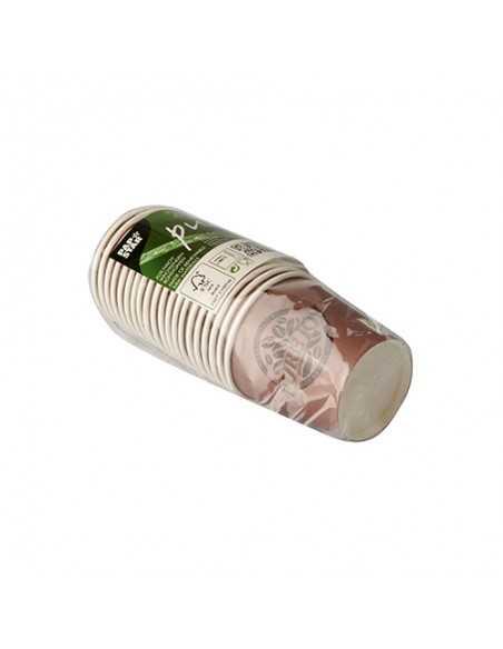 Vasos café cartón compostables morado 100m Pure Joy