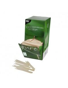 Fourchettes pour Frites en Bois FSC 8,5 cm Pure