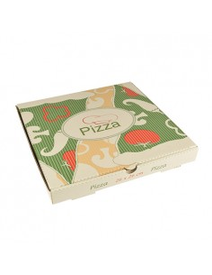 Cajas para pizza cartón decoradas pequeñas 26 x 26 cm Pure