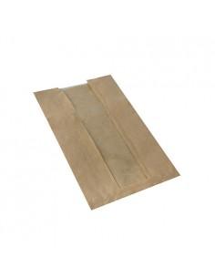 Bolsas panaderia papel marrón con ventana PLA compostables Pure