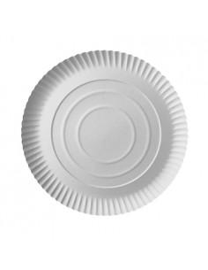 Bandejas tarta cartón redondas color blanco Ø 26 cm