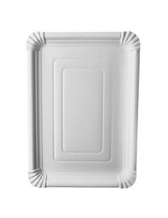 Bandejas de cartón blancas servicio pastelería 24 x 33 cm Pure