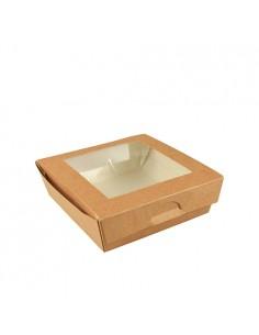 Cajas de Cartón Con Ventana de PLA Color Marrón 750ml Pure