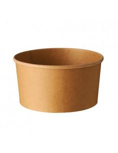 Envases ensalada cartón marrón redondos 1000ml Pure