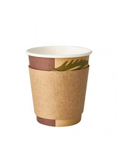 Fundas aislantes para vasos To Go cartón marrón