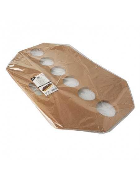 Bandejas para vasos cartón marrón con asa 12 x 9,5 cm