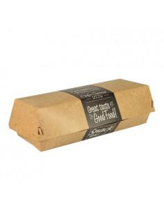 Cajas Para Bocadillo Cartón Fibra Virgen 21x 7,5 cm Pure Good foodcm