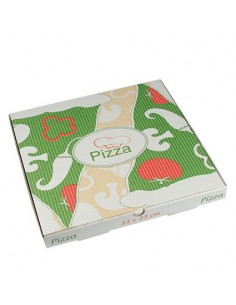 Cajas para pizza cartón decoradas 33 x 33 cm Pure
