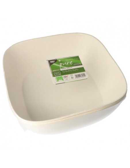 Bols compostables caña azúcar cuadrados 30,5 x 30,5 cm Pure