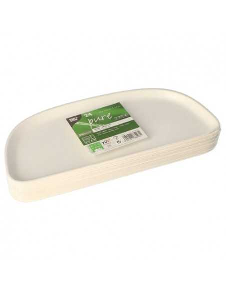 Bandejas Caña de Azúcar Blancas 30,5 x 13 cm Pure Belle Vie