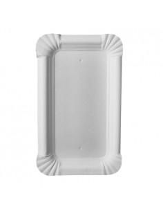 Bandejas de cartón blanco rectangular pastelería 15 x 9 cm Pure