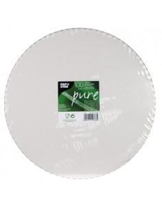 Bases de Tarta Cartón Fibra fresca Blanco Redondas