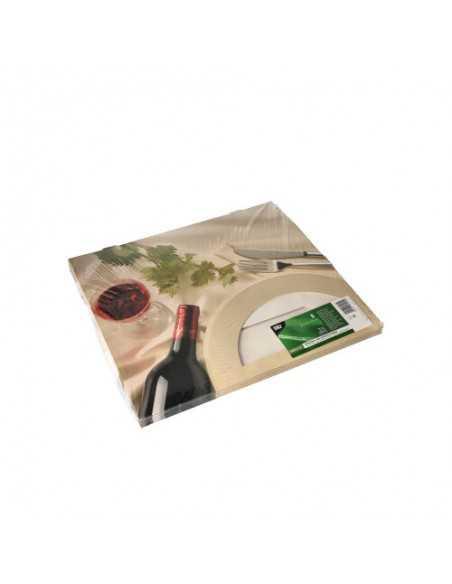 Cajas Transporte Catering Cartón Decorado Ventana PLA 36 x 25 cm