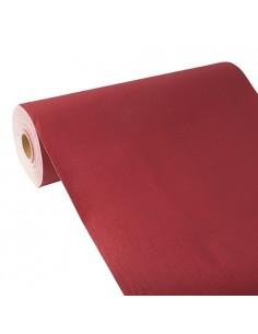 Camino de mesa papel aspecto tela burdeos Royal Collection 24 m x 40 cm