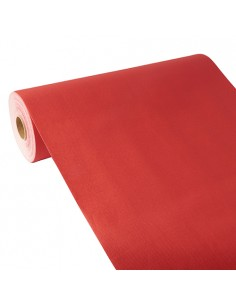 Camino de mesa papel aspecto tela rojo Royal Collection 24 m x 40 cm