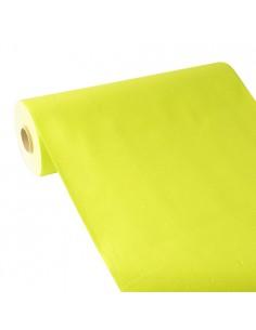 Camino Mesa Papel Verde Limón Aspecto Tela Royal Collection Plus