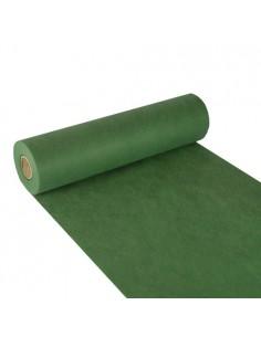 Camino de mesa papel aspecto tela Soft Selection 24 m x 40 cm verde oscuro