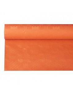 Mantel papel naranja gofrado damasco rollo 6 x 1,2 m