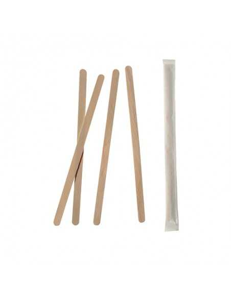 Removedores de madera envueltos Individualmente Pure 14 cm