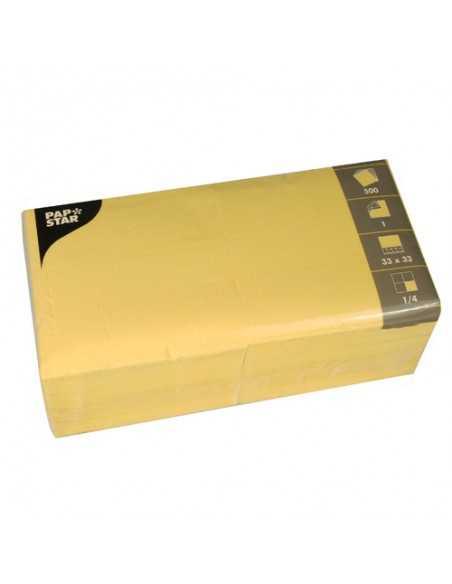 Servilletas papel amarillo económicas 33 x 33cm 1 capa