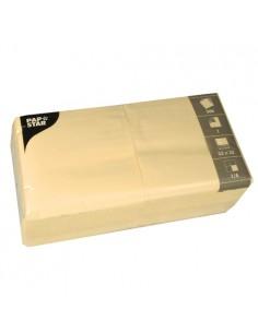 Servilletas papel crema económicas 33 x 33 cm 1 capa