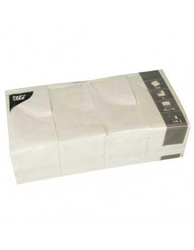 Servilletas papel blancas hostelería Pliegue 1/8 40 x 40cm
