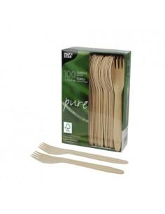 Tenedores de madera abedul FSC Pure 16,5 cm