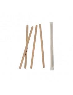 Removedores madera envueltos para cafeterías 11cm Pure