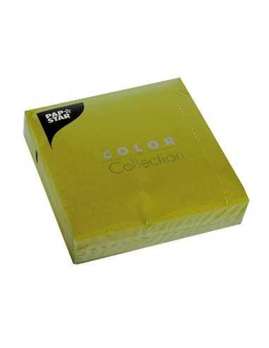 Servilletas de papel verde oliva 33 x 33 cm Color Collection