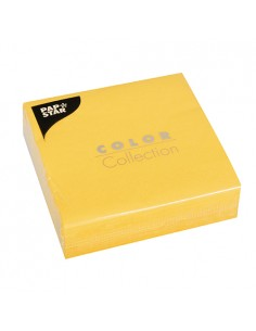 Servilletas de papel amarillo 33 x 33 cm Color Collection