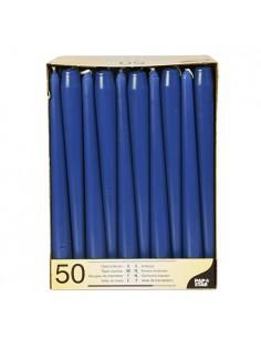 Velas candelabro color azul oscuro Ø 2,2 x 25 cm
