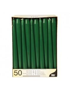 Velas candelabro verde oscuro Ø 2,2 x 25 cm