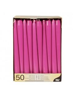 Velas candelabro color rosa fucsia Ø 2,2 x 25 cm