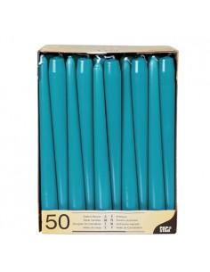 Velas candelabro azul turquesa Ø 2,2 x 25 cm