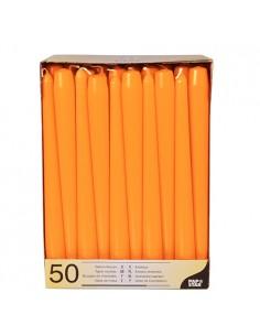 Velas candelabro color naranja Ø 2,2 x 25 cm